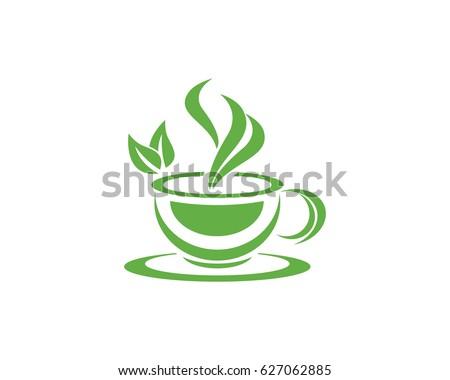 Tea Cup Logo Template Stock Vector 627062885 - Shutterstock