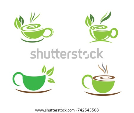 Tea Cup Logo Template Vector Icon Stock Vector HD (Royalty Free ...