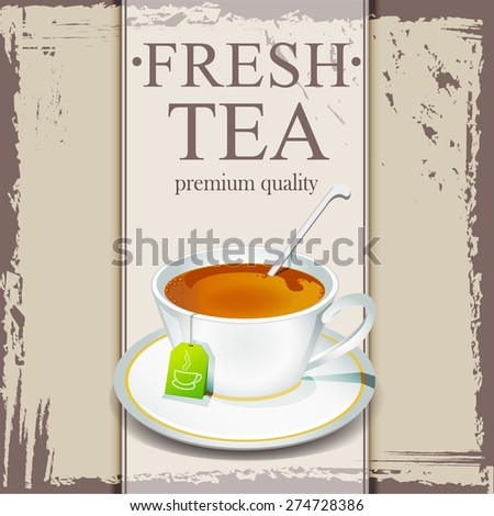 Tea design template - stock vector