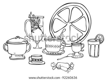 tea-house - stock vector