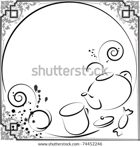 tea menu - stock vector