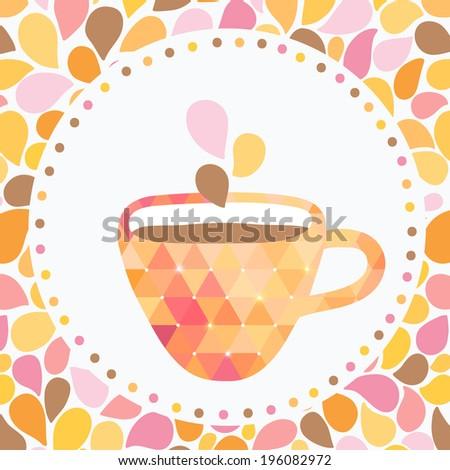 tea party brochure template cute flyer stock vector royalty free