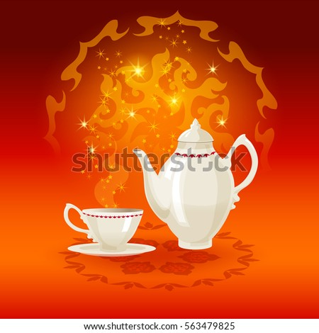 Tea Poster Background Indian With Mandala Circle Ornaments