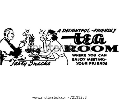 Tea Room - Retro Ad Art Banner