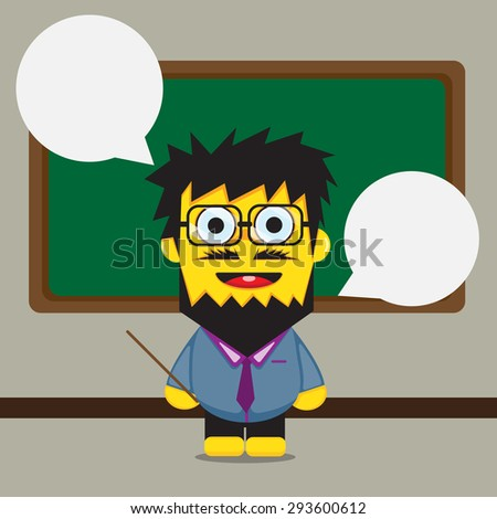 teacher cartoon design