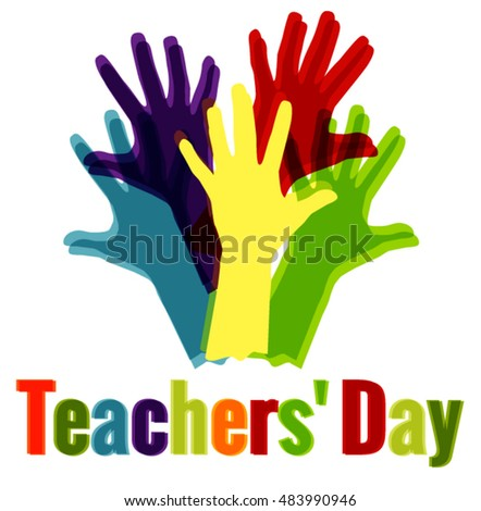 Teacher's Day vector background