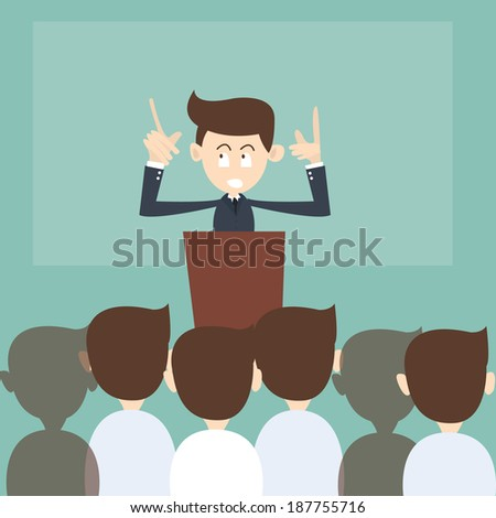 Teaching and training business - stock vector