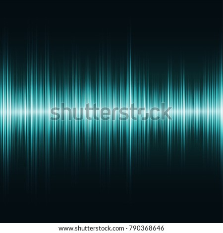 Teal oscillation light effect, sound equalizer digital visualization, glowing northern lights illustration on transparent background. Shining peaks of twinkling illumination.