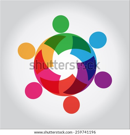 team and teamwork, close companions and community people together, unity & solidarity, social connections - stock vector