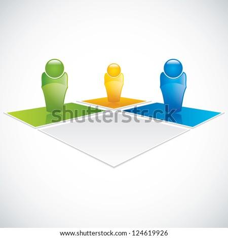 Team business concept. Vector - stock vector