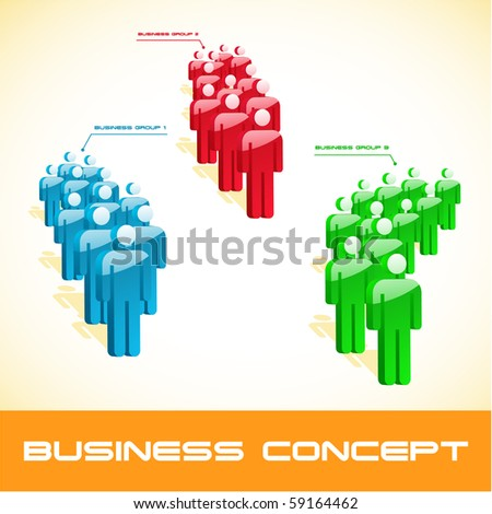 Team business concept. Vector illustration. - stock vector