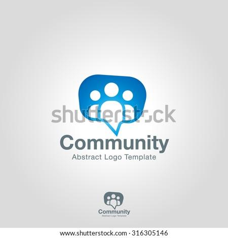Team Community Partners logo template. Social Network Corporate branding identity - stock vector