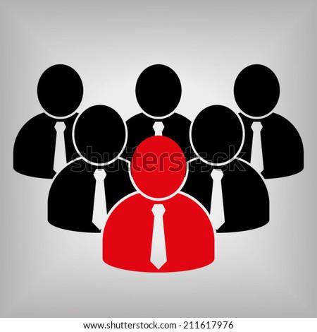 Team Leader Icon - stock vector