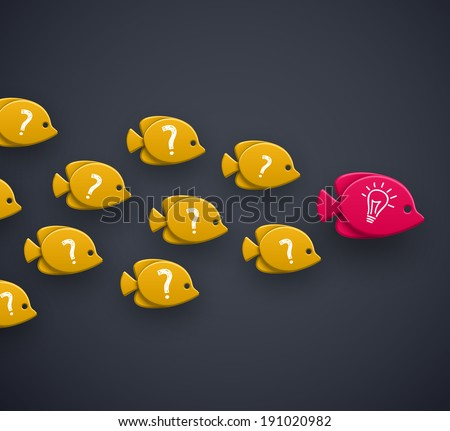 Team leader, idea concept, eps 10 - stock vector