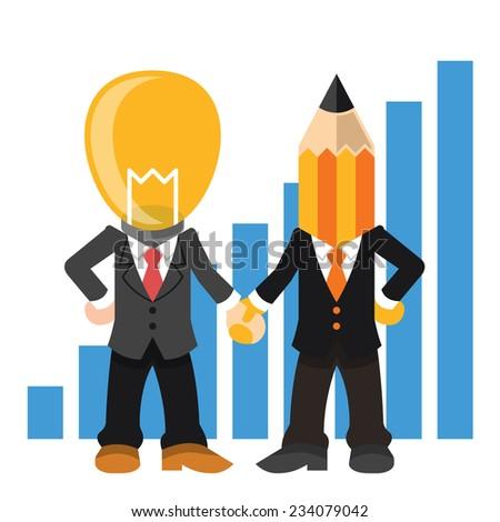 Team management. Vector flat illustration - stock vector