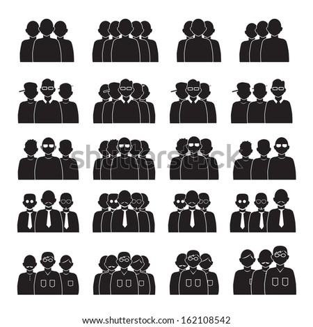 Team People Set - Isolated On White Background - Vector Illustration, Graphic Design Editable For Your Design. - stock vector