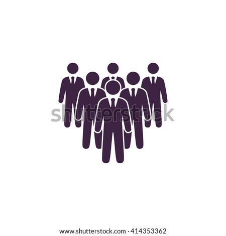 team Simple flat blue vector icon on white background - stock vector