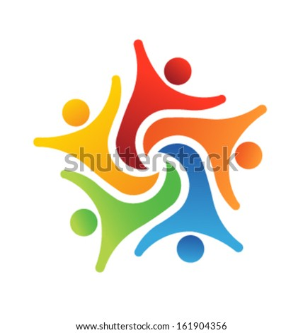 Team Success 6 Design Icon Vector - stock vector