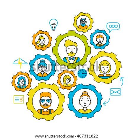Team. Teamwork concept. Working together. Collaboration business teamwork. leadership. Business people teamwork concept, teamwork skills, teamwork management,. teamwork concept. teamwork vector. - stock vector