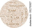 TEAM. Word collage on white background. Vector illustration. - stock vector