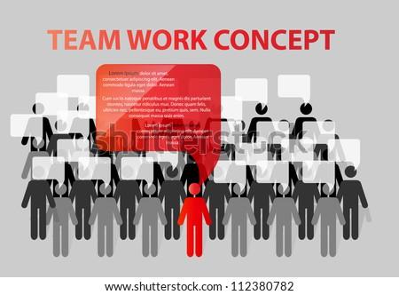 Team work concept vector illustration - stock vector