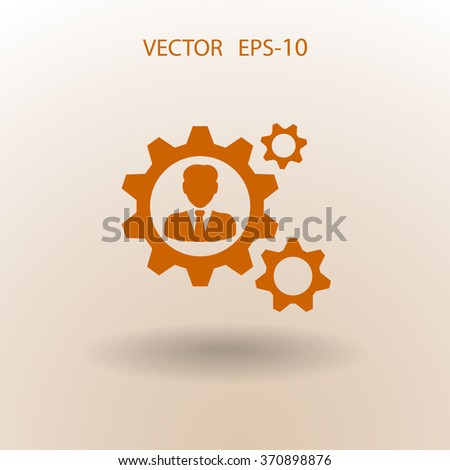 Team work icon - stock vector