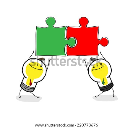 Team work - Illustration - stock vector