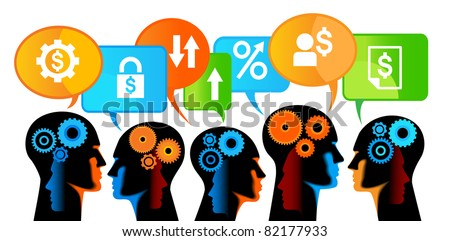 teamwork banking,teamwork of people for a stable growth in business - stock vector