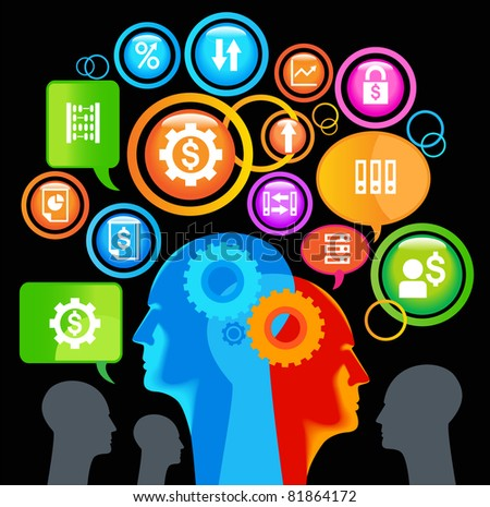 teamwork business. graphic image of the business concept - stock vector
