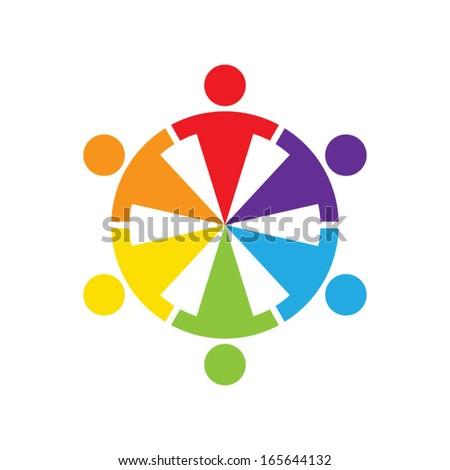 teamwork concept - stock vector
