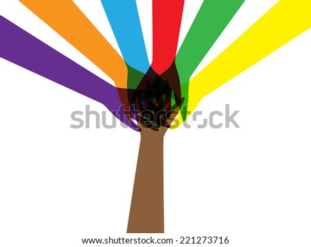 teamwork design - stock vector
