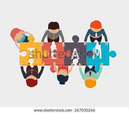 Teamwork design over white background, vector illustration.