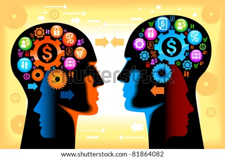 teamwork finance.the graphic image of the business concept - stock vector