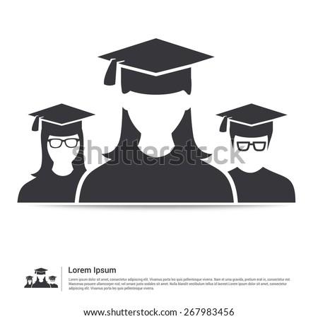 Teamwork graduates student education icon vector - stock vector