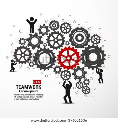 Teamwork graphic vector design - stock vector