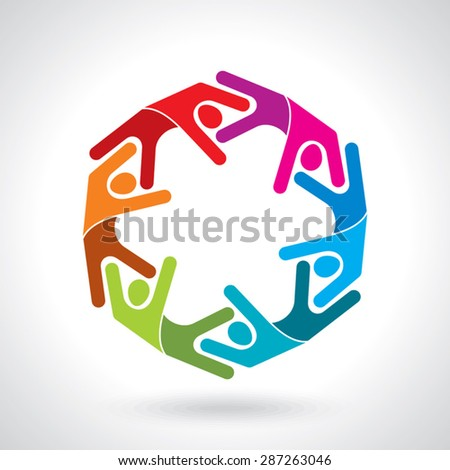 Teamwork, Group of People - stock vector
