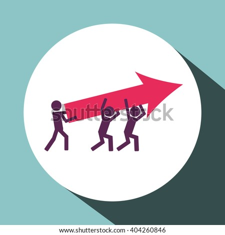 Teamwork icon design, vector illustration
