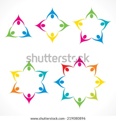 teamwork or unity icon design vector - stock vector