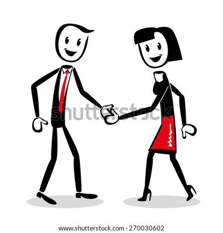 teamwork successful - stock vector