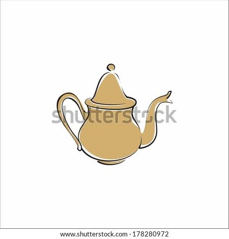 Teapot - stock vector