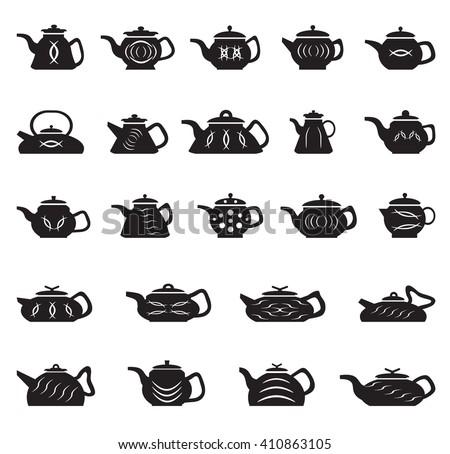 Teapot Chinese Japanese Asian Oriental Vector Stock Vector ...