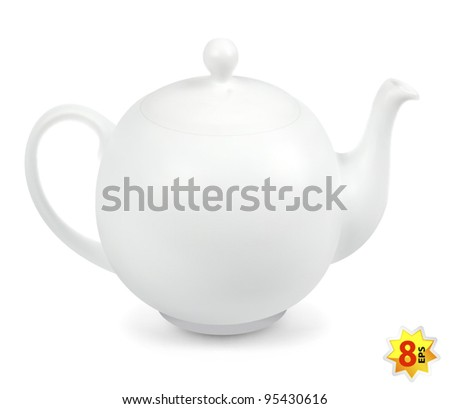 Teapot isolated on white - stock vector