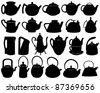 Teapots - stock vector