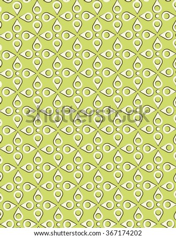 Tear-drop pattern over green color background - stock vector