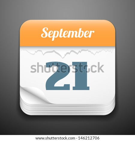 Tear-off calendar icon - stock vector
