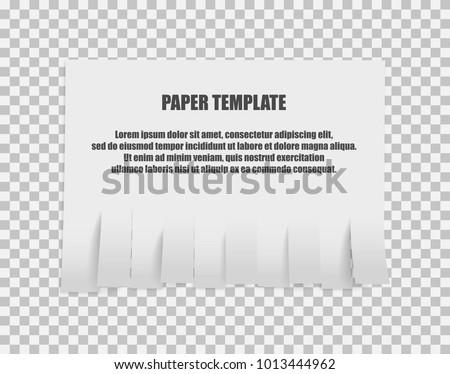 Tear Off Stripes Paper Sheet Street Stock Vector 1013444962 ...