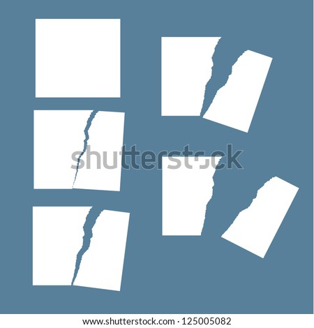 tear paper - stock vector