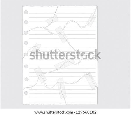 Tear paper Vector Illustration. - stock vector