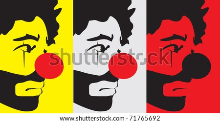 Tears Clown - stock vector