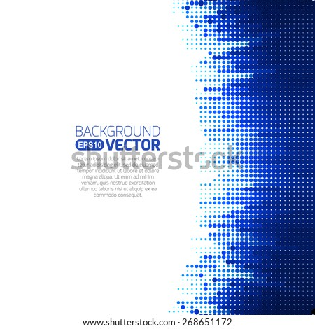 Tech background, white and blue - stock vector